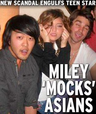 Mile Cyrus mocks asians