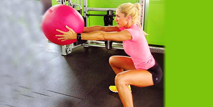 Medicine-ball-squats