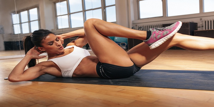 Young Woman Doing A Sit Ups